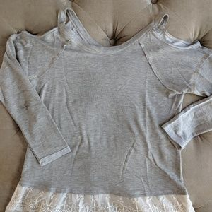 Woman's Xhilaration (Target) cold shoulder shirt